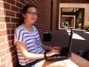 Sophomores Jenny Cryzman started the Carolina Advice Blog this summer. Photo by Brian Walker