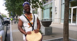 Osei Appiagye performs and holds drum workshops around the Triangle. (Photo by Rene Gupta)