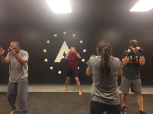 Students practice at Triangle Krav Maga (Photo by Avery Hall)