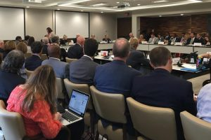 The first Board of Governors meeting of the new school year was calmer than last year's meetings. (Mattie Smith/Carolina Connection)