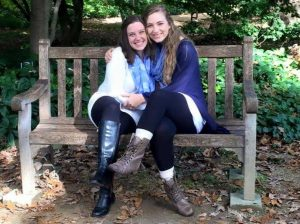 Annabeth Larrabee (right) was a sophomore at UNC when she was diagnosed with Lyme disease after five years of symptoms. Photo courtesy of Anna Overton.