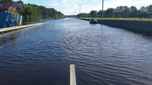 Hurricane Matthew left Interstate 95 - and much of Robeson County - under water. (NC Dept of Transportation)