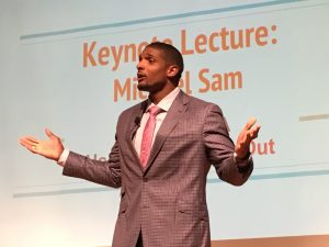 Michael Sam spoke on National Coming Out Day about his experiences of being gay.