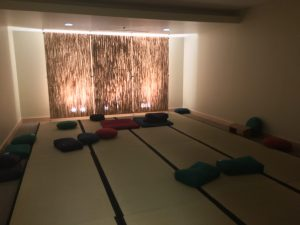 The meditation room in the bottom of the student union.