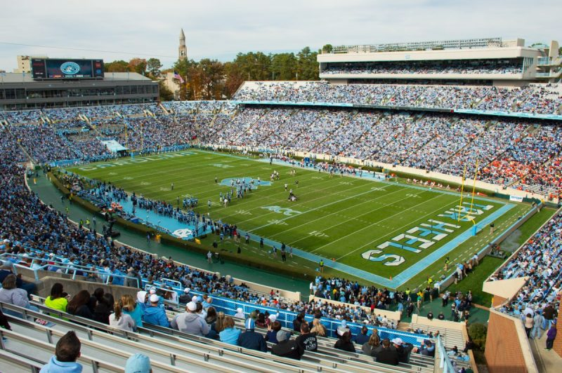 Kenan Stadium packed with fans.